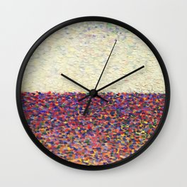 Speckly Rainbow Field Horizon Wall Clock