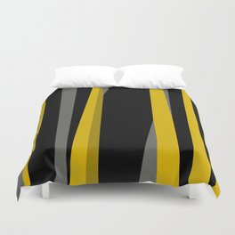 yellow gray and black Duvet Cover