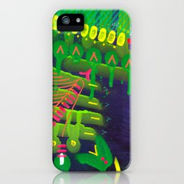 Wave green iPhone Case