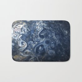 Swirling Blue Clouds of Planet Jupiter from Juno Cam Bath Mat