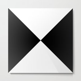 Black & White Triangles Metal Print