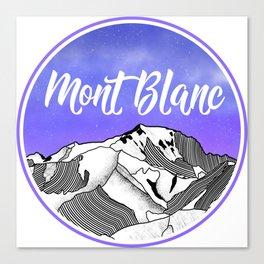 Mont Blac Canvas Print