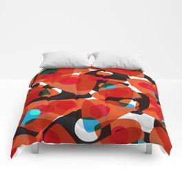 orange 70s Comforters