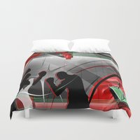 boxing Duvet Covers featuring Boxing by Robin Curtiss