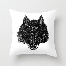 Wolf's Head Throw Pillow