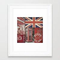 british Framed Art Prints featuring Very British by LebensART
