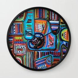 Pueblo Art Wall Clock