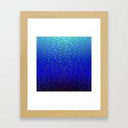 Sharks In Deep Water. Framed Art Print