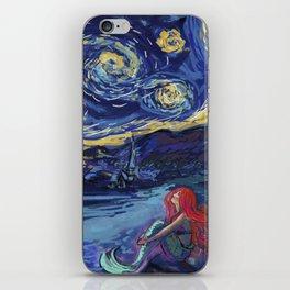 Starry Starry Night meets Mermaid iPhone Skin