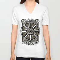 all seeing eye V-neck T-shirts featuring All Seeing Eye by Pancho the Macho