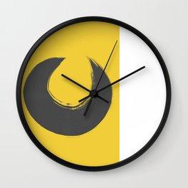 Amarelo cinza 01 Wall Clock