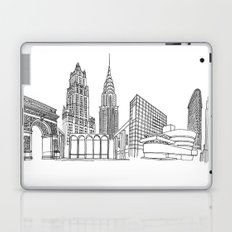 NYC Landmarks by the Downtown Doodler Laptop & iPad Skin