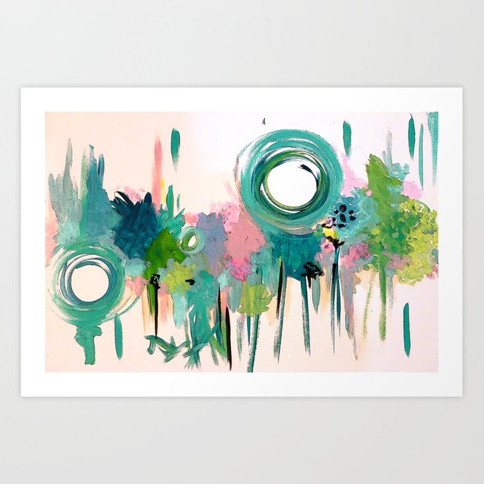Monday in the Garden Art Print