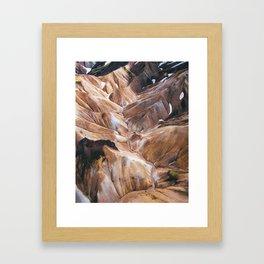 Gelato Mountains Framed Art Print