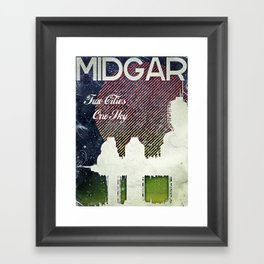 Final Fantasy VII - Midgar Tribute Poster *Distressed* Framed Art Print