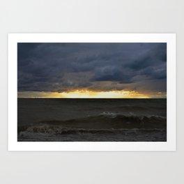 Waves & Storm 6 Art Print