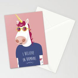 I believe in Humans Stationery Cards