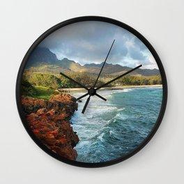 Shipwreck's Beach - Poipu, HI Wall Clock