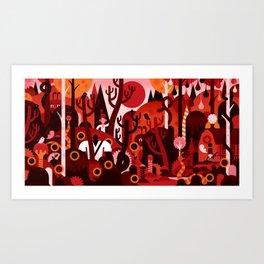RIVER RAG Art Print