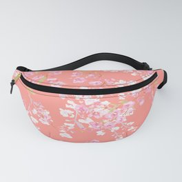 cherry blossoms in living coral Fanny Pack