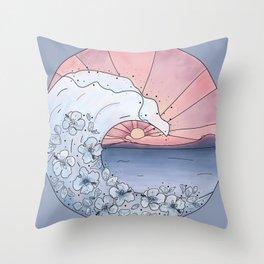 Flower Wave Throw Pillow