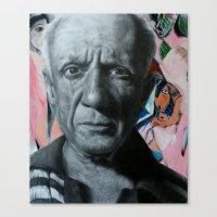 pablo picasso Canvas Prints featuring Pablo Picasso by Scott Mitchelson