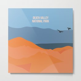 Winged Living Creatures Soaring High In Death Valley National Park Metal Print