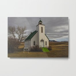 Presbyterian Church, Whitlash, MT Metal Print