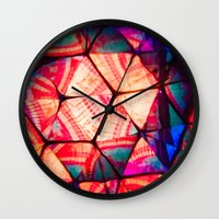 prism Wall Clocks featuring Prism by Lotus Effects
