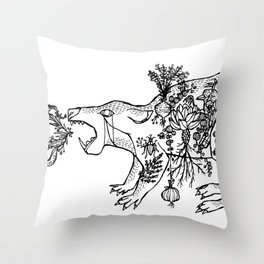 Begone Throw Pillow
