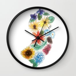 Hand Painted New Jersey State Map Wall Clock