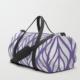 Ultraviolet Floral-Inverted Duffle Bag