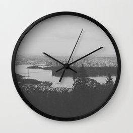 vancouver from cypress mountain. Wall Clock