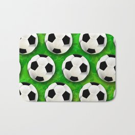 Soccer Ball Football Pattern Bath Mat