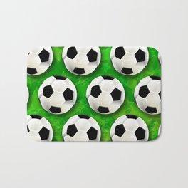 Soccer Ball Football Pattern Bath Mat