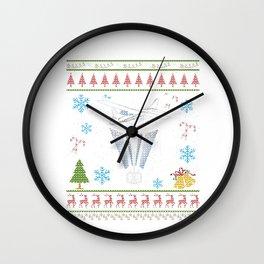RC Plane Remote Control Plane Christmas Ugly Shirt Wall Clock