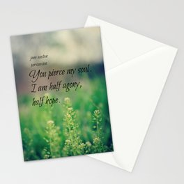 Agony and Hope Jane Austen Stationery Cards