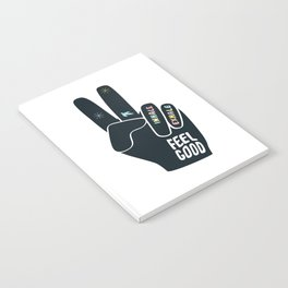 Inhale Exhale Peace sign Notebook
