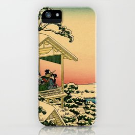 Japanese teahouse after the snow iPhone Case