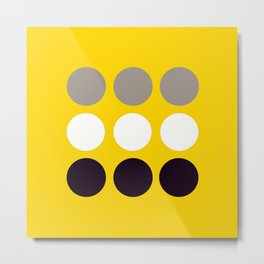 Abacus - Retro Dots On Yellow Background #decor #society6 #buyart Metal Print