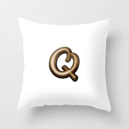 Chocolate Letter Q Throw Pillow