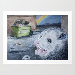 Happiness Is an Open Dumpster Art Print