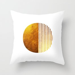 Gold Sun Throw Pillow