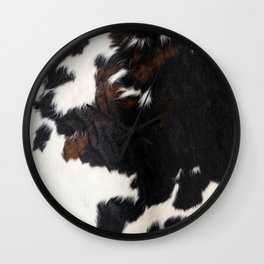 Cowhide Farmhouse Decor Wall Clock