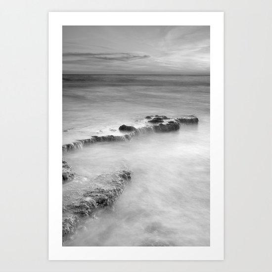 waterfalls on the rocks. M Art Print