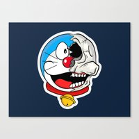 doraemon Canvas Prints featuring Doraemon  by Santos