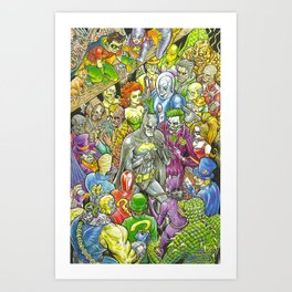 Rogues Gallery Art Print