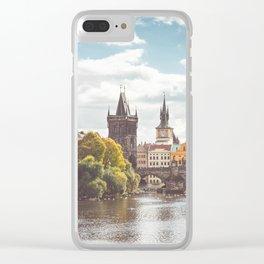 Vltava River in Sunny Prague Clear iPhone Case