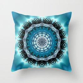 Mandala Blue 5 Throw Pillow