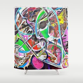 Colorful Abstract 2 Shower Curtain